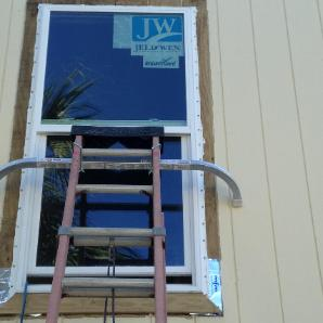 windows with a nail flange that can be sealed to the host structure the best glazing is impact glass with low e